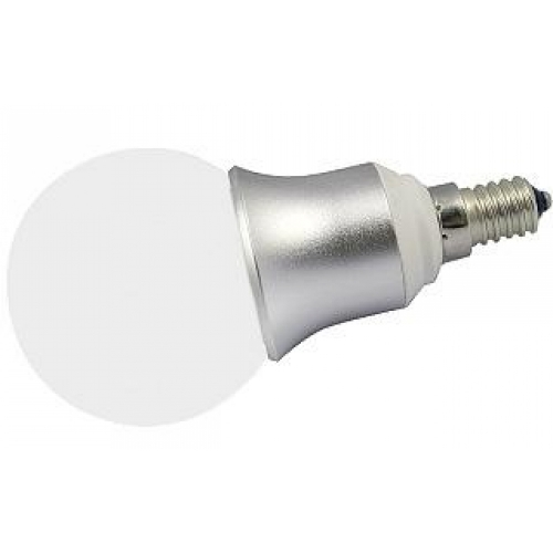 LED-Leuchte in Kugelform E14-G60M 6W, warm weiß