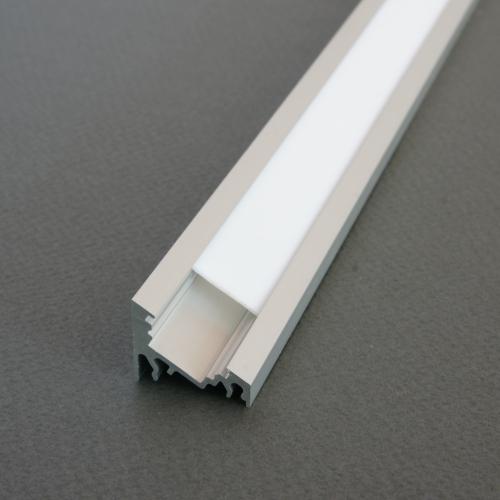 LED Profil CORNER10 ALU 2m eloxiert + weiße Abdeckung, Set für Beleuchtung