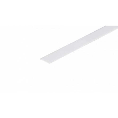 Blende weiß 2m für Aluminiumprofil CORNER10