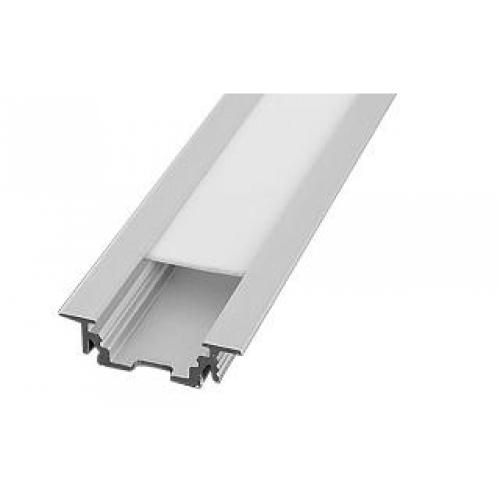 LED Einbauprofil GROOVE-T-10-1m , eloxiert