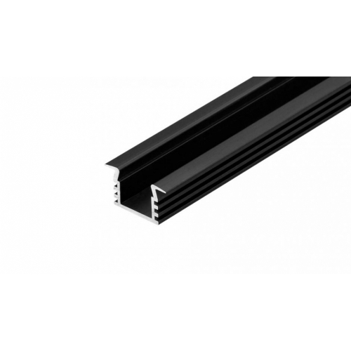 LED Einbauprofil PDS-F-11-2m, eloxiert, Black