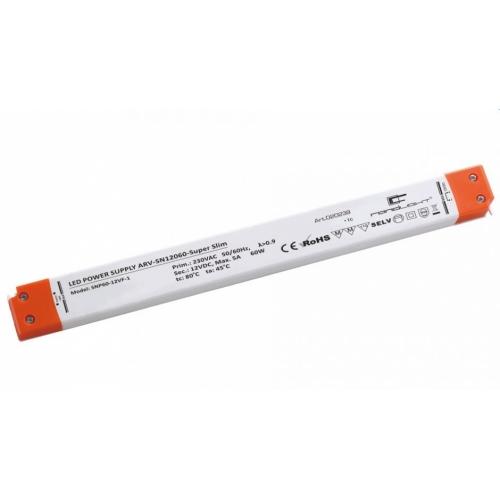 LED Netzteil LSN-superslim-12060 (12V, 5A, 60W) PFC