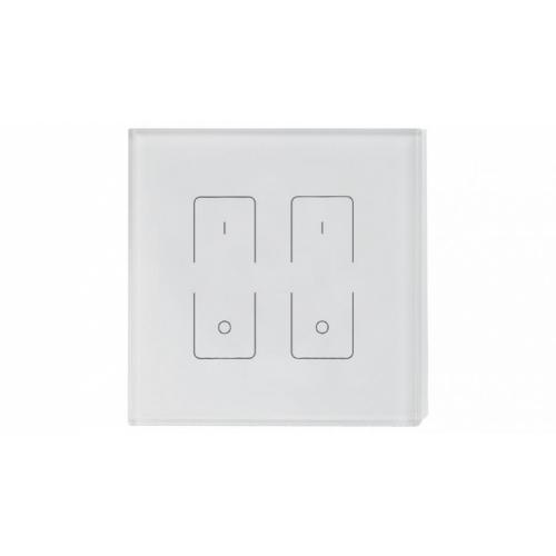 WiFi/RF-Einbau-Touchpanel SR-2833T1 (230V, 2 CH), white