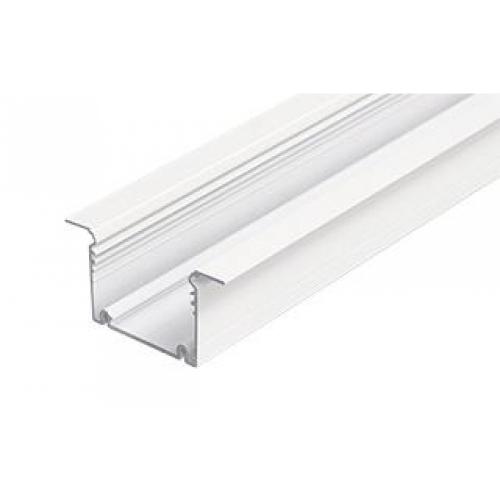 LED Einbauprofil PHIL RECESSED-T-25-2m, white, eloxiert