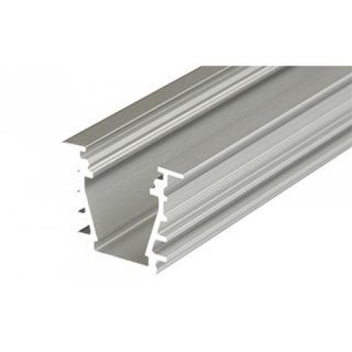 LED Einbauprofil DEEP-T-10-2m, eloxiert