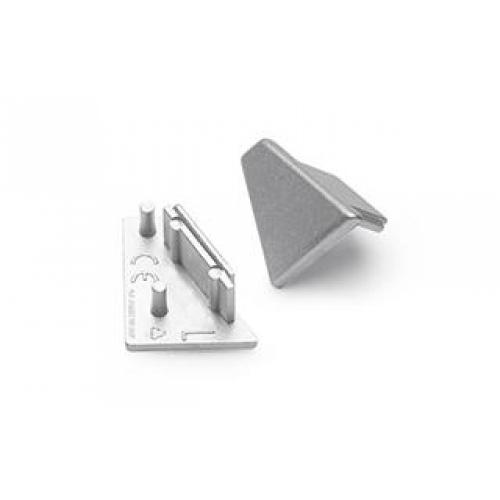 Endkappen für Aluminiumprofil CORNER10 (2Stück, links/rechts, silber)