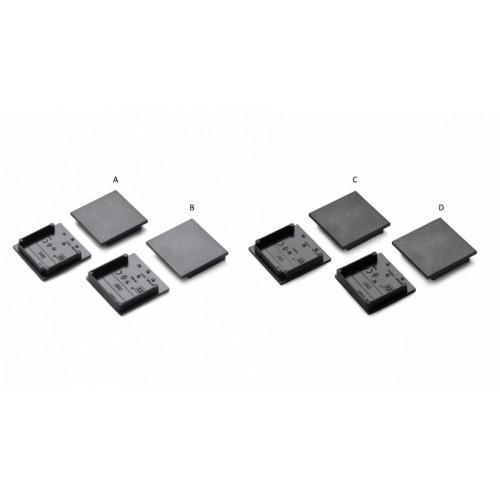 SET: Endkappe-T VARIO 30-08, (2x4st) black