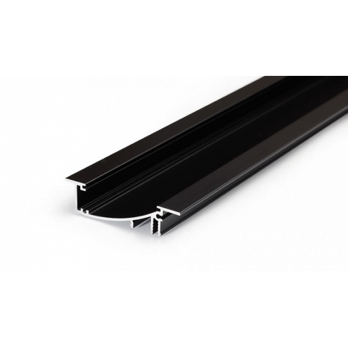 LED Einbauprofil FLAT10 2m, schwarz