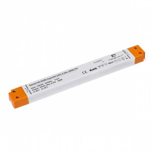 LED Netzteil LSN-superslim-24200 (24V, 8.33A, 200W) PFC