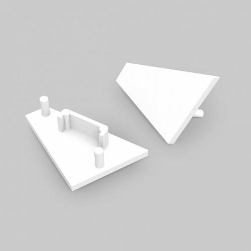Endkappe-T CORNER-14, weiss, SET (2 Stück)