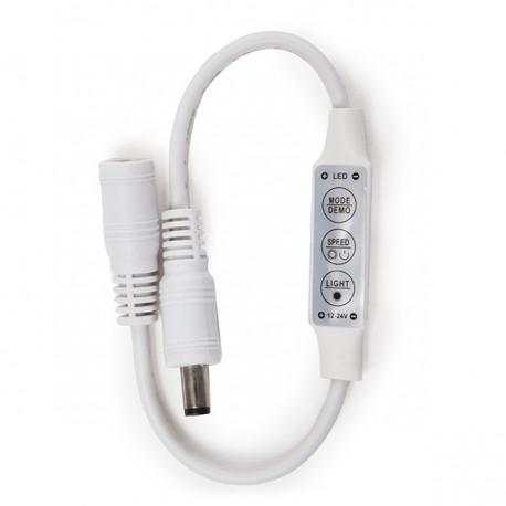 LED-Controller Regler Mini LED-Leiste Dimmer Einzelfarbe 12-24VDC 144W