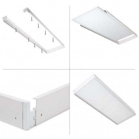 Anbaurahmen GI-NE-1200300 Oberflächenmontage LED-Panel 120x30cm
