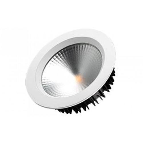LED Einbauleuchte SH-21W-3000K warmweiß rund Ø160 matt weiß inkl. Netzteil