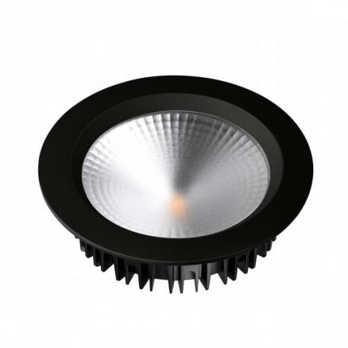 LED Einbauleuchte SH-21W-3000K warmweiß rund Ø160 matt schwarz inkl. Netzteil