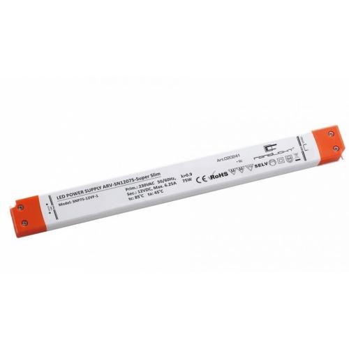 LED Netzteil LSN-superslim-12075 (12V, 6.25A, 75W) PFC