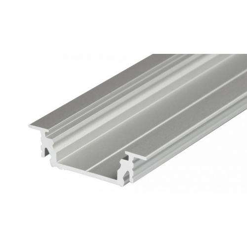LED Einbauprofil GROOVE-T-14-2m, eloxiert