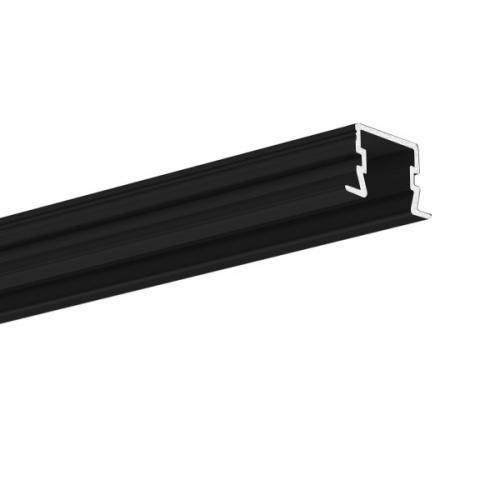LED Einbauprofil PDS-F-11 2m, eloxiert, schwarz (black)