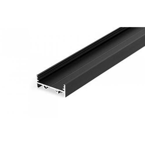LED Profil VARIO-T-30-01-2000, eloxiert, black