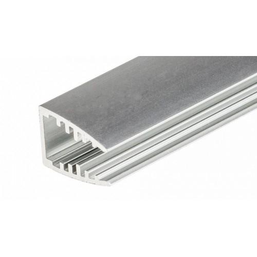 LED Glasprofil MIKRO-10-2000, 2m, eloxiert für Glaskantenbeleuchtung