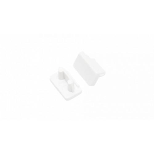 Endkappe-T SLIM-8, weiß