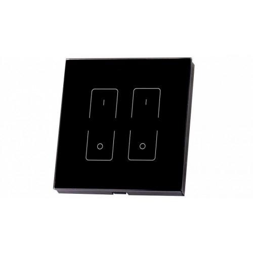Einbau-Touchpanel SR-2805T1-RF-IN black (230V, 2 Zonen)