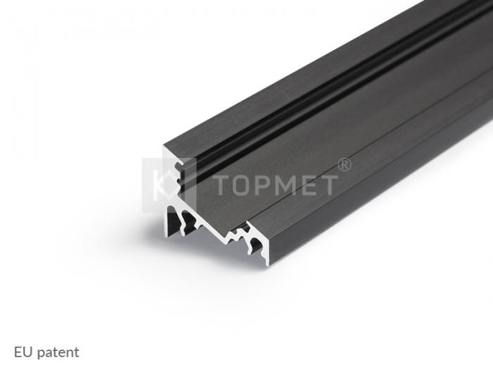 LED Eckprofil CORNER10-2000 2m, schwarz (black)