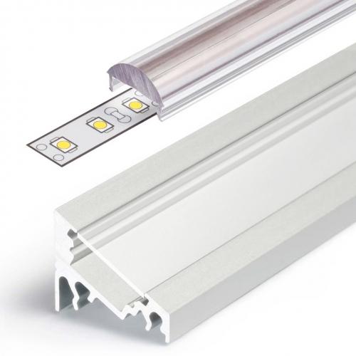 LED Eckprofile CORNER10 (CO) 1000, eloxiert - 1 m  Stablinse 60°