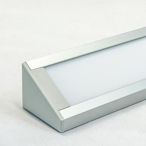 LED Aluminium Eckprofil Set CORNER 27mm (2m) eloxiert inkl. Blende (weiß), Befestigungsclips und Endkappen für LED-Streifen/indirekte Beleuchtung
