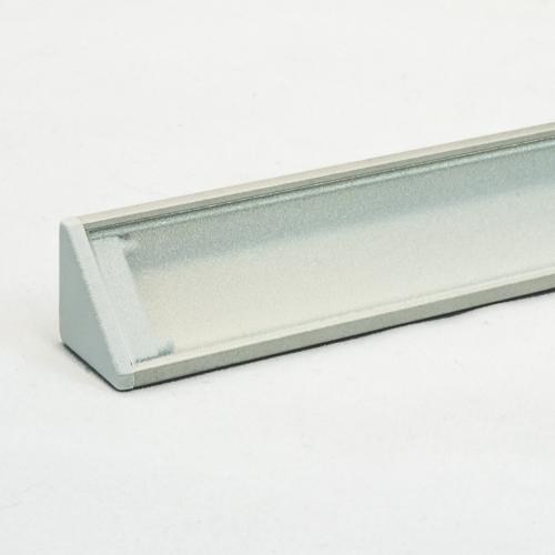 LED Aluminium Eckprofil Set CABI 12mm (2m) eloxiert inkl. Blende (klar/transparent) und Endkappen für LED-Streifen/indirekte Beleuchtung
