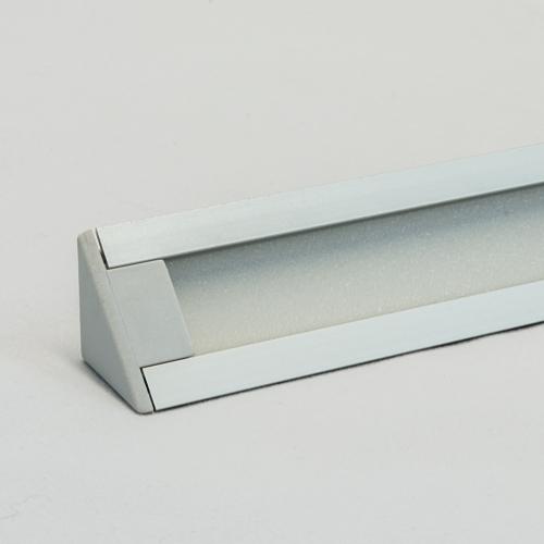 LED Aluminium Eckprofil Set TRIO 10mm (2m) eloxiert inkl. Blende (raureif/diffus), inkl. 2 Endkappen für LED-Streifen/indirekte Beleuchtung
