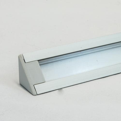 LED Aluminium Eckprofil Set TRIO 10mm (2m) eloxiert inkl. Blende (klar/transparent), inkl. 2 Endkappen für LED-Streifen/indirekte Beleuchtung