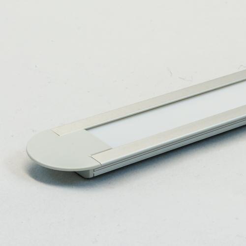 LED Aluminium Einbauprofil Set GROOVE 10mm (2m), eloxiert inkl. Blende (weiß), Befestigungsclips und Endkappen für LED-Streifen/indirekte Beleuchtung