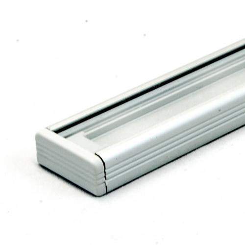LED Aluminium Anbauprofil Set SURFACE 14mm (2m) eloxiert inkl. Blende (klar/transparent), Befestigungsclips und Endkappen für LED-Streifen/indirekte Beleuchtung