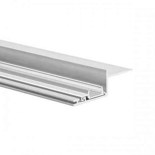 LED Profil NISA-KRA 2000, 2m, Nicht eloxiert (roh)
