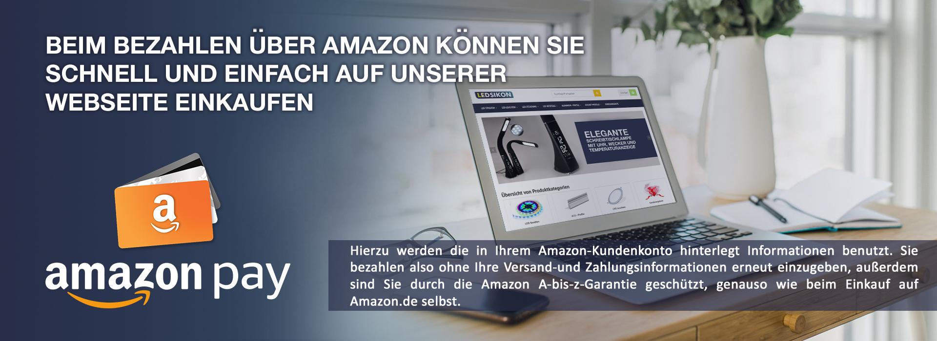 Die bequeme und bewährte Zahlungsart mit AmazonPay