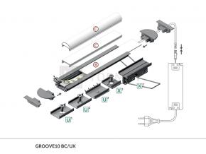 LED Einbauprofil GROOVE10-2000 2m, eloxiert
